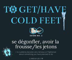 English idiom: to get/have cold feet 😰 Fiche expression anglaise courante issue de l'article ❄️ Attrape-t-on froid ? Myth or reality? 🤧 – 37 mots d'anglais courant (Partie 1/2) auquel vous pouvez accéder directement en cliquant sur le titre. #EnglishIdioms #Idioms #ExpressionAnglaise #EnAvantAnglais #AméliorerSonAnglais #VocabulaireAnglais #ApprendreAnglais #FichesAnglais #AnglaisGratuit
