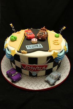 some of the best chocolate buttercream frosting ever! Fondant Cakes, Cupcake Cakes, Best Chocolate Buttercream Frosting, Disney Cars Cake, Mcqueen Cake, Specialty Cakes, Fancy Cakes, Pretty Cakes, Creative Cakes