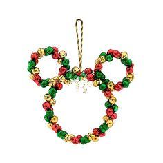 Mickey Mouse Wreath, Disney Wreath, Mickey Mouse Christmas, Mickey Craft, Disney Christmas Decorations, Disney Ornaments, Christmas Wreaths, Christmas Door, Disney Holidays