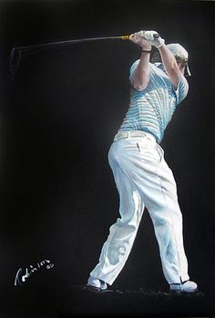 Golfing Greats are painted by the celebrated Sporting Artist, Mark Robinson. Robinson Golf Art was set up to promote M Womens Golf Wear, Golf Card Game, Golf Betting, Dubai Golf, Golf Club Grips, Golf Putting Tips, Rory Mcilroy, Golf Art, Miniature Golf