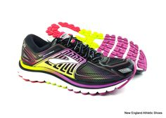 19e4c6207b2 Brooks women Glycerin 13 running shoes - Black   Hyacinth Violet   Virtual  Pink  Brooks  RunningCrossTraining