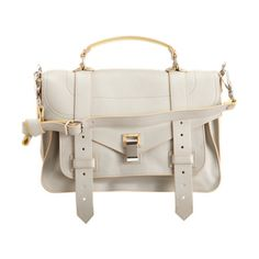Proenza Schouler PS1 Medium Double-Sided Leather in WHITE <3