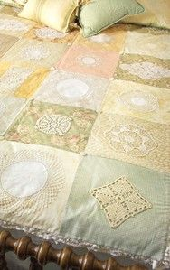 Vintage Doily Quilt, want to do this will all the handmade doilies handed down from my great grandmother :)