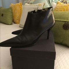 Gucci Booties Black Gucci Booties 3 inch heel Gucci Shoes Ankle Boots & Booties