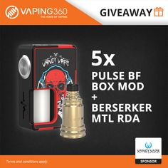 5 x Pulse BF Box Mod + Berserker MTL RDA Vandy Vape Giveaway
