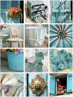 Aqua & Turquoise....Perfect Color!
