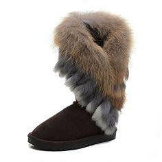 c570269d8e Amazon.com | BattleFire 2015 Style Fox Fur Women Snow Boots Winter Boot | Snow  Boots