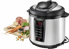 Insignia™ - Multi-function 6-Quart Pressure Cooker - Stainless steel/black - Angle Zoom