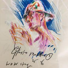 Glasto Space Cadet....WOW Stage Silverhayes. #silverhayes #glasto #glastonburyfestival #illustration #illustrator #dance #music #festival #carandache #drawing
