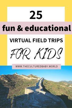 25 Fun & Educational Virtual Field Trips for Kids . - 25 Fun & Educational Virtual Field Trips for Kids - Home Learning, Learning Tools, Fun Learning, Learning Shapes, Educational Activities, Learning Activities, Activities For Kids, Educational Websites, Virtual Field Trips