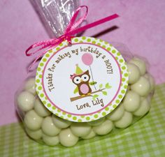 Birthday Girl Owl Favor Tags by The Party by ThePartyPaperFairy, $8.00