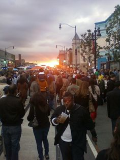 End of the day at the H street festival in DC