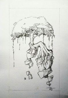 Quick pencil sketch of tree #adywicaksono