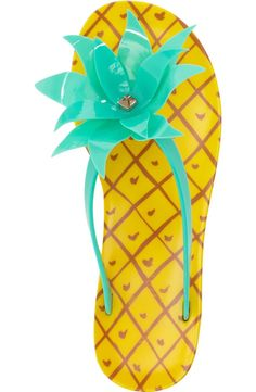 kate spade pineapple flip flop