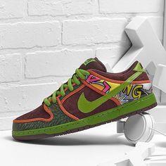 reputable site 8616e c60c9 Revamped NIKE Dunk LOW Nike Sb Dunks, Custom Shoes, Deep, Nike  Skateboarding,