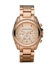 Micheal Kors glitz chronograph watch   LOVE IT!