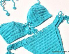 Fabric Crochet Women Swimwear Women Beachwear by senoAccessory