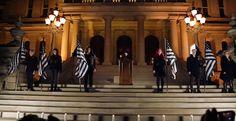 12月22日付け アメリカで初めて悪魔儀式が公式に執り行われました。  : ミシガン州ランシングの議事堂で悪魔儀式が執り行われました。