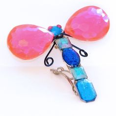 Coraline Dragonfly Barrette 4 Halloween Costume Lil Luxe Pink and Blue. $19.99, via Etsy.