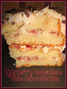 Rapsberry Cheesecake and white chocolate cake.  BEST CAKE EVER