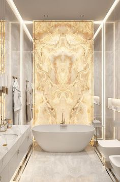 Bad Inspiration, Bathroom Inspiration, Gold Bad, Gold Bathroom, Bathroom Mirrors, Bathroom Toilets, Bathroom Lighting, Bathroom Cabinets, Bathroom Tubs