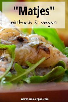 Matjes vegan - super lecker und einfach zuzubereiten! #vegan #veganerezepte #veganessen #matjesvegan #abendessen #frühstück #mittagessen Super, Chicken, Meat, Food, Eat Lunch, Food Dinners, Eggplants, Food Ideas, Essen