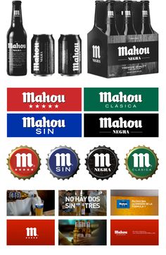 Mahou Negra Beer Packaging and design by Enric Aguilera Associates