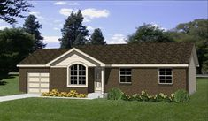 Contemporary House Plans, Contemporary Bathrooms, Best House Plans, House Floor Plans, Br House, Duplex Plans, Covered Front Porches, Country House Design, Tiny Cabins
