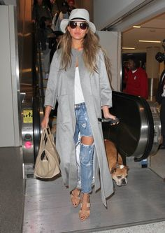 Vote! Which Celebrity Had the Best Weekend Street Style? // Chrissy Teigen