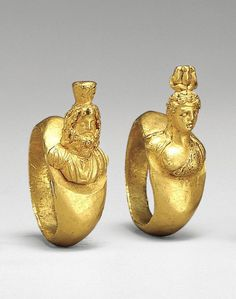 Ring with busts. Roman Period - 1st century A.D. Cerca amb Google