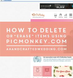 How to Erase items using PicMonkey. Here are two ways you can easily delete items from files using PicMonkey. ahandcraftedwedding.com