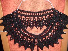 Stunning black crochet collar necklace. £13.00, via Etsy.