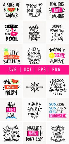 This Summer SVG Bundle comes with 30 funny summer quotes cut files for all your summer craft projects! T Shirt Designs, Vinyl Designs, Cute Designs, Summer Humor, Funny Summer Quotes, Pool Quotes Summer, Vinyl Projects, Craft Projects, Summer Signs