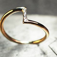 The Zig Zag ring. Just perfect! chincharmaloney.com