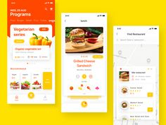 Fast food order & delivery designed by Hoveny for UIGREAT Studio. Connect with them on Dribbble; the global community for designers and creative professionals. Ui Design Mobile, Mobile Application Design, App Ui Design, App Map, Cafeteria Design, Food Poster Design, App Design Inspiration, Creative Inspiration, Delivery App