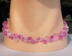 Collier Pink  stars flakes