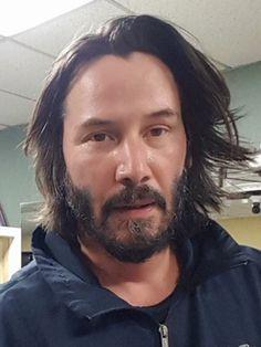 "Keanu April 2017 at Winnipeg for the shooting ""Siberia"" movie"