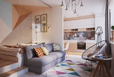 Living in a shoebox | Ukranian 430 sq. feet apartment doesn't compromise on function or style