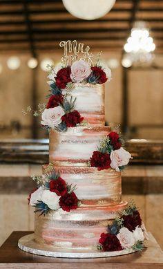 wedding cakes elegant The 50 Most Beautiful Wedding Cakes, wedding cake ideas, amazing wedding cake rustic wedding Pretty Wedding Cakes, Floral Wedding Cakes, Amazing Wedding Cakes, Fall Wedding Cakes, Wedding Cake Rustic, Elegant Wedding Cakes, Wedding Cake Designs, Rustic Cake, Elegant Cakes