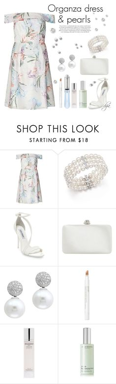 """Dorothy Perkins organza dress and.... pearls!!"" by dgia ❤ liked on Polyvore featuring Dorothy Perkins, Bloomingdale's, Steve Madden, Dune, Effy Jewelry, Jouer and African Botanics"