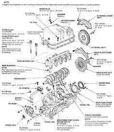 Honda Accord Engine Diagram   Diagrams: Engine parts ...