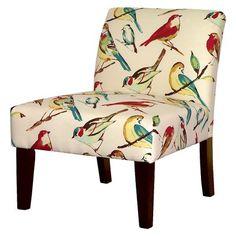 Avington Upholstered Slipper Chair - Birds hmmm