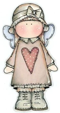 Little girl with heart on dress Arte Country, Pintura Country, Cute Images, Cute Pictures, Meninos Country, Decoupage, Cute Clipart, Country Paintings, Marianne Design