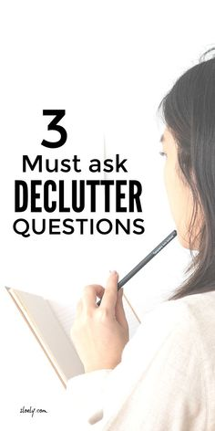 Forget what you have read before these are the 3 declutter questions to ask if you really want to clear your clutter #decluttertips #declutterquestions #decluttering Questions To Ask, This Or That Questions, Declutter Your Life, Konmari Method, You Really, Organization, Getting Organized, Organisation