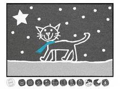 Tierische FußmattenDesigner Fußmatte: Katze Kater Flocke