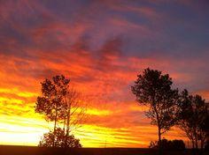 SA sunset. Over Vaal river