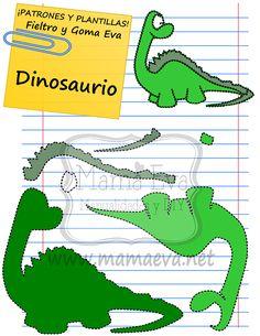 dinosaurios en goma eva - Buscar con Google
