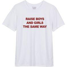 Raise Boys and Girls  White T shirt