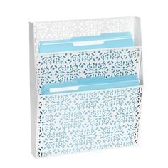 """I think The Container Store should change the name of this from """"Brocade Wall File"""" to """"LUUUUURRRRVE!"""" Catchy, right? $29.99"""