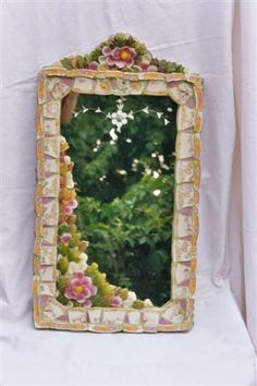 Weird Gardens: Gallery - Glass Flowers Mirror(two more closeup pics on pin)